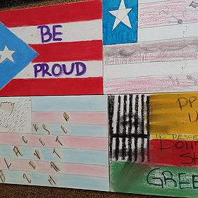 image of student flags artwork