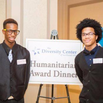 young men at the humanitatian award dinner